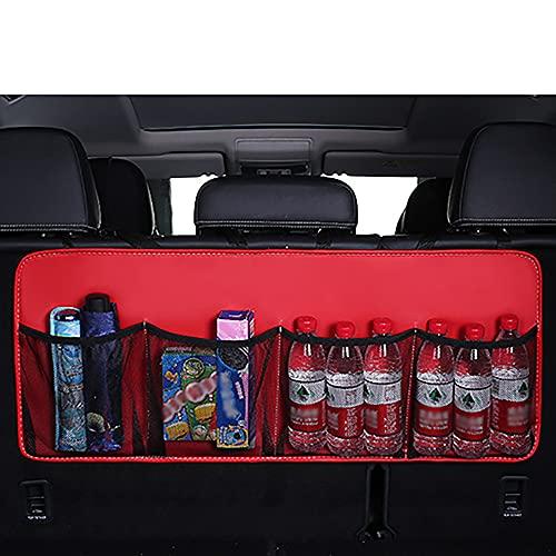 Bolsa De Almacenamiento De Equipaje De AutomóVil, Bolsa De Almacenamiento De Asiento Trasero De AutomóVil De Bolsillo De MúLtiples Tipos, Red De Carga Plegable Duradera (Rojo)