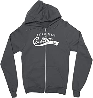 Official NCAA Central Texas College Eagles - C26SS05 Mens/Womens Boyfriend Zip Hoodie