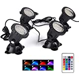 Pond Light Waterproof IP68 Color Changing Landscape Lights Dimmable Submersible Spotlight ...