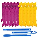 20 Pack Magic Hair Curlers No Heat Hair Roller Curling Rods Set Spiral Curls Styling Kit Styling Hooks DIY Hair Styling Roller Perm Tool Set for Long Hair up to 22 inch (55 cm)