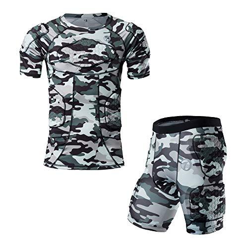DGXINJUN Padded Compression Shirt and Short Sleeve...