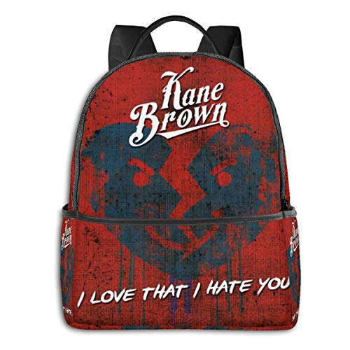 Lsjuee Kane Brown Novel and Stylish Black Backpack Travel Computer Bag