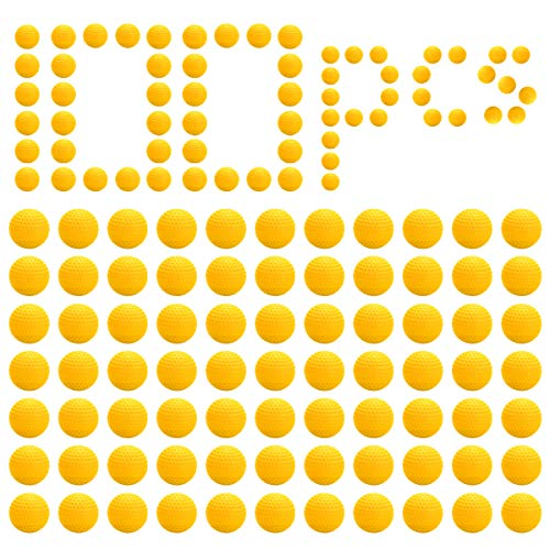 LAOYE 100 Palle Gonfiabili Pallattola Giocattoli di Ricaambio Pacchetto di Ricarica per Nerf Rival Zeus/Apollo/Khaos/Atlas/Artemis Blasters