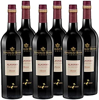 Vino Oloroso Alfonso de 75 cl - D.O. Jerez - Bodegas Gonzalez Byass (Pack de 6 botellas)