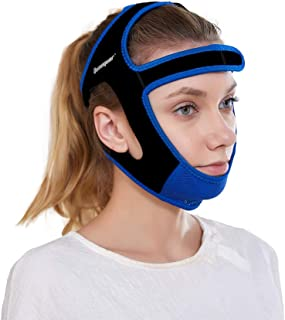 Anti Snoring Chin Strap - Snore Stopper & Snoring Solution Reduction Sleep Aids- Breathable, Flexible & Easily Adjustable with Non-Slip Strap for Men and Women