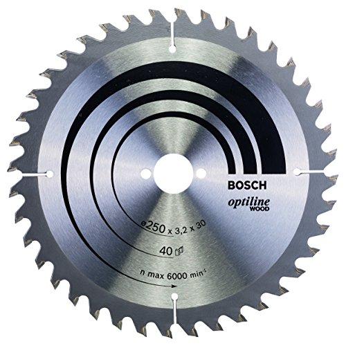 Bosch Professional Kreissägeblatt Optiline Wood (für Holz, 250 x 30 x 3,2 mm, 40 Zähne, Zubehör Kreissäge)