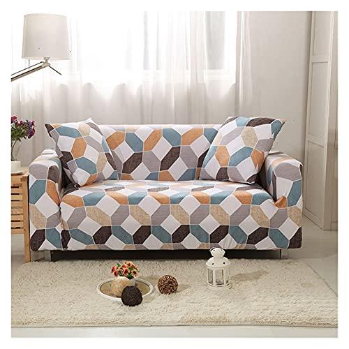 OYZK Cubierta de sofá Floral de Estiramiento, sofá elástica Cubiertas para Sala de Estar Sofá Funda Fundas Fundas Sofás con Chaise Longue 1pc (Color : 14, Specification : 1 Seat 90 140cm)
