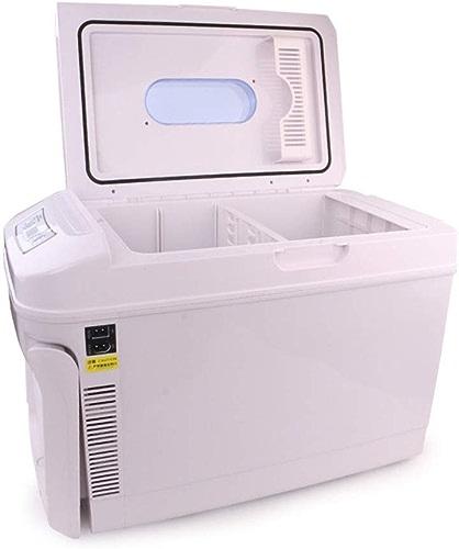 SuoYn Mini réfrigérateur Refroidisseur Glacière et réchaud de Voyage électrique - 35 litres de Courant Alternatif et continu - Réfrigérateur Portable pour Voiture