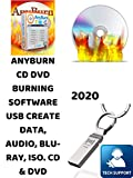 PRO ANYBURN CD/DVD BURNER DVD TOOL. BURN AND CREATE DATA, AUDIO, BLU-RAY, ISO. COMPATIBLE WITH MICROSOFT WINDOWS PC. This software is great for recording Movies, Music and saving Photos on CD/DVD.