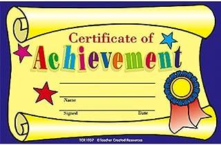 Teacher Created Resources Certificate of Achievement Awards (1937)