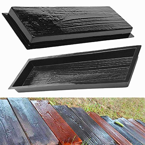Yhjkvl Molde de pavimento de madera de grano de paso de piedra molde de pared de cemento, ladrillos de jardín, decoración del hogar para patio jardín suelo de carretera