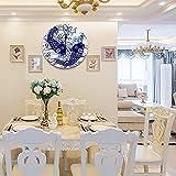 Reloj de Pared diseño Moderno de 30 cm, Ola Japonesa Carpa Animales Fauna silvestre Japón Dibujo Peces Pintura Agua dulce Reloj de Pared silencioso Digital , Utilizado en la Sala de Estar, la Cocina