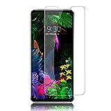 Displayschutzfolie für LG G8 Thinq (2 Stück) Premuim klar Anti-Stratch Screen Tempered Glass Schutzfolie für LG G8 THINQ Phone