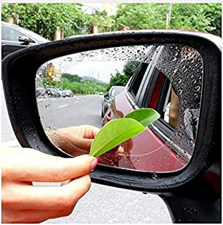 2 PCS HD Anti Fog Film for Car Rear View Mirror and Side Window Glass, Water Proof Membrane Anti Protective Film, Dust Proof