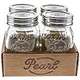 HELLO PEARL Mason Jar Luna Cap - Tarro de cristal con tapa de acero inoxidable,...