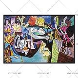 Bpieft Puzzle per adulti Impossible Puzzle Picasso, España, Francia Rompecabezas de 1000 Piezas para Adultos Temas para niños Juegos de Rompecabezas para la Familia, 50x75cm