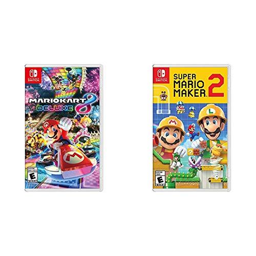 Mario Kart 8 Deluxe - Nintendo Switch Bundle with Super Mario Maker...