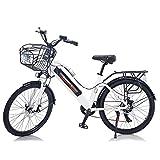 """TAOCI - Bicicletta elettrica da donna, per adulti, per tutti i terreni, 26"""", 36 V, 350 W, batteria agli ioni di litio rimovibile a 7 marce, mountain bike per attività all'aperto, viaggi allenamento"""