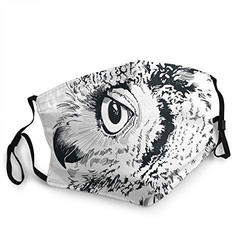HleHjum Diseño de búho ilustración cara Bandana reutilizable cómoda lavable niños invierno cálido bufanda