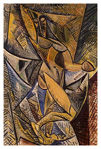 JH Lacrocon Danza con Velos De 1907 de Pablo Picasso - 80X120 cm Pinturas Abstracto a Mano Reproducción sobre Lienzo Enrollado Decoración Pared para Salón