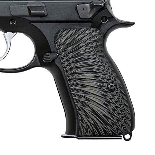 Cool Hand CZ 75 Compact G10 Grips, Sunburst Texture, Brand Grey/Black