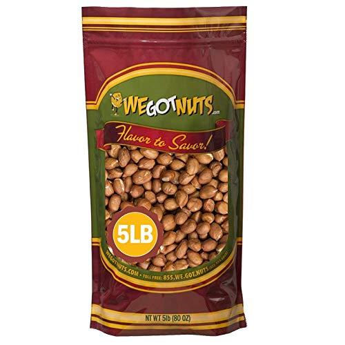 Raw Redskin Peanuts (Unsalted) 5LB Bag Bulk - We Got Nuts
