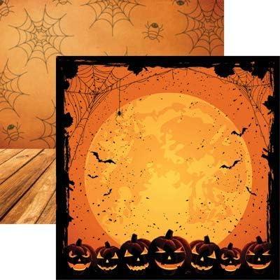 Arlington Mall Full Moon - famous Halloween Night Scrapbook 5 12x12 Paper