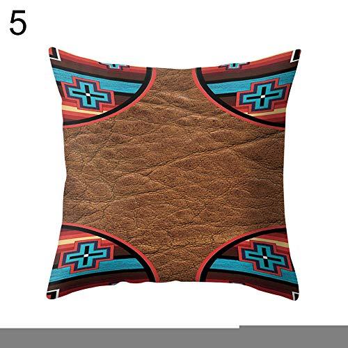 FOReverweihuajz Home Textiel Letter Bloem Vierkant Linnen Kussensloop Kussensloop Slaapbank Bed Auto Office Decor