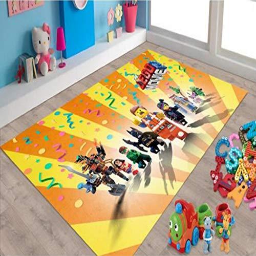 llc Alfombra Baño Cocina Alfombra Antideslizante Sala De Estar Dormitorio Sala De Niños Alfombra Rectangular Lavable Dibujos Animados Anime Lego Patrón