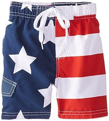 Kanu Surf Boy's Patriot Swim Trunks, Flag, Large (7)