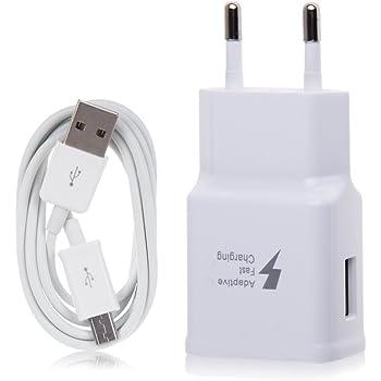 Chargeur rapide blanc et câble 1,5 m samsung galaxy s7 edge