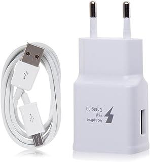 SAMSUNG TA20Cargador Galaxy S7, Carga rápida, AFC 2A, con Cable Micro USB de 1,5m, Blanco