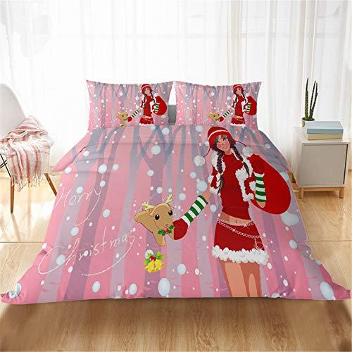 HY Bettbezug und Kissenbezug für Erwachsene, 3-teilig (15,220 x 240 cm)