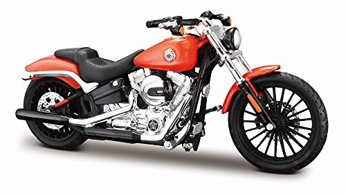 Modelo de motocicleta 1:18 Harley Davidson 1984 fxst softail rojo de maisto