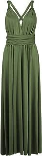 Women's Convertible Multi Way Wrap Maxi Dress Long Party Grecian Dresses