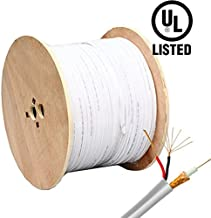 HDView Video Power Cable, 1000ft Samese Coaxial RG59 Cable Wire for CCTV Security Camera, Extension Wire Cord for HD (TVI/AHD/CVI/Analog) Security Camera, Combo Video & Power - 20AWG, Pull Out Box