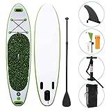 WEIFAN Tabla De Surf De Deportes AcuáTicos Tabla De Paddle Surf Inflable Sup con Bomba De Paleta Ajustable Kit De 3 Aletas Y Mochila De Transporte Tabla De Deriva Inflable Gruesa De 6'para