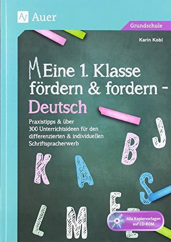 Eine 1. Klasse fördern und fordern - Deutsch: Praxistipps & über 300 Unterrichtsideen für den d ifferenzierten & individuellen Schriftspracherwerb (Meine 1. Klasse)