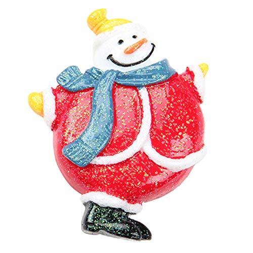 SUCHUANGUANG Navidad Resina Flatback botón Adorno encantos para DIY Nevera Pegatina Accesorio Navidad Resina Adorno 9#