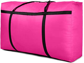 ZAIH Oversized Storage Bags - Oxford Cloth Tote Bag - Storage Moving Bags - Efficient Moving Tool, Pink, 180L(39.37 * 23.62 * 11.81in)