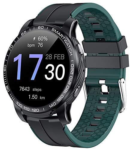 XWZ Smart Watch Fitness Tracker Smartwatch Pulsera Deportes Smartwatch Reloj Inteligente Hombres Llamada Bluetooth Presión Arterial,Verde