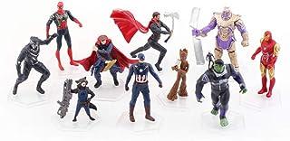 10 Pcs Superhero Action Figures Sets of Batman, Superman, Spiderman, Thor, Ironman, Captain America,PVC Figure Toy Dolls–Super Hero Cake Toppers Decorate