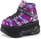 Demonia NEPTUNE-100 Purple Glitter-Hologram UK 8 (EU 41)