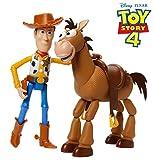 Toy Story- Disney 4 Pixar Woody e Bull Seye Personaggi Articolati da 18 cm, Giocattolo per...