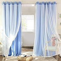 cortinas salon doble capa