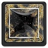 [4 piezas] pomos de cristal para aparador, pomos de cajón, tiradores de armario para el hogar, cocina, armario, armario, ramas de árbol de Navidad dorado con fondo negro