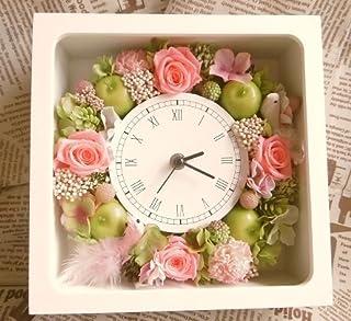 【ギフト&インテリア】プリザーブドフラワー時計4【誕生日・お祝い・記念日などに】
