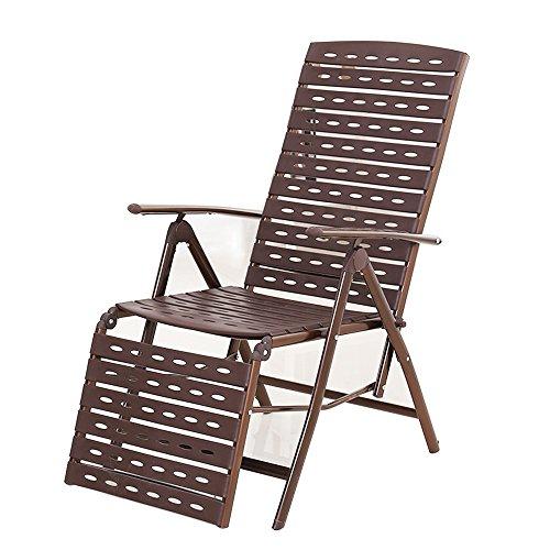 JCOCO Chaise longue en osier/pause déjeuner pliante chaise longue en rotin/chaise de sieste de bureau/balcon à la maison chaise à bascule paresseuse/maison chaise extérieure portable/chaise
