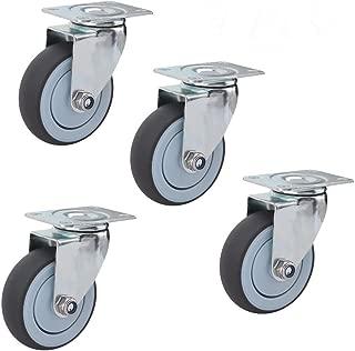 Heavy Duty Castors,with Brake Lock Heavy Duty,Trolley Furniture Caster,Universal 360 Degree Rotating,Double Row Caster,for Furniture Table Trolley Bed Workbench,4 Pcs 1.5 inch,Directional