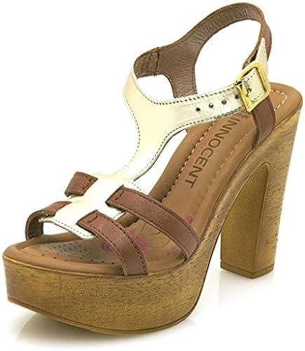 Innocent butterWeißhe Sandalette Ledersandalette Lederschuhe High Heel Heel Heel 190-SS02  Verkauf Online-Rabatt